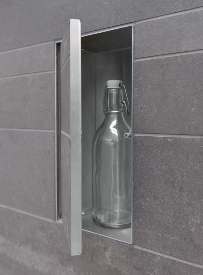 LoooX T-Box inbouwnis met deur wit 15x30 cm / 14 cm diep