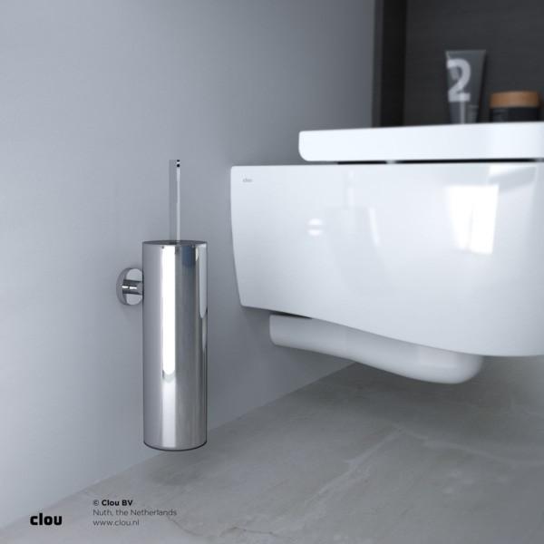 Clou Flat toiletborstelgarnituur wandmodel meerdere kleuren