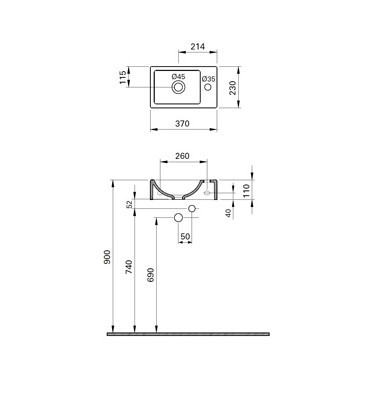 Houston fonteinset compleet rechts Wit keramiek en Chroom 37x23cm