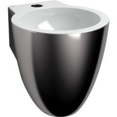 Clou Flush 6 fontein keramiek met kraangat 27x28cm Platina/Wit