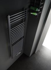 Instamat Rondo Lux CV badkamerradiator 120 cm hoog en diverse lengtes/Wit of Zwart mat