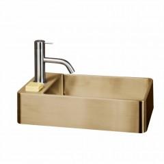Fontein Lanesto Vanity RVS Gold 22x40x10cm (ex kraan, incl. waste)