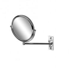Geesa make-up spiegel 1-armig normaal en 3x vergrotend Ø20cm Chroom