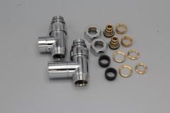 Instamat Cylinder luxe radiator rechte aansluitset verchroomd CY.RE