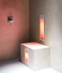 Sunshower Duo half/full body inbouwmodel infrarood 62x20x10cm & 32x20x10cm Wit