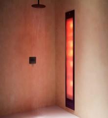 Sunshower Deluxe inbouw infrarood en UV lamp 187x32x17cm Wit/Zwart