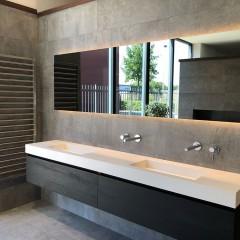 Badkamerspiegel rechthoek Martens Design London met verlichting en verwarming (alle maten)