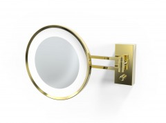 Decor Walther scheerspiegel Goud/Goud mat wandmodel LED vergroting 3x/5x