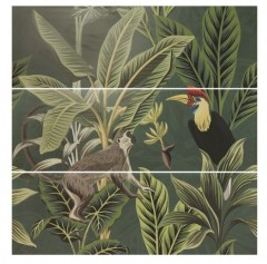 Wandtegel Silk Decor set(3) ABC Toucan Green 40x120cm