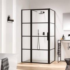 Sealskin Soho douchecabine met deur 120x90x210 cm Zwart mat