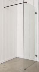 Luca Glass type B douchewand 50x200 cm met stabilisatiestang diverse kleuren
