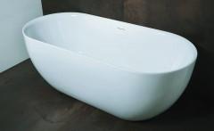 Luca Primo vrijstaand acryl bad 170x78cm glans Wit