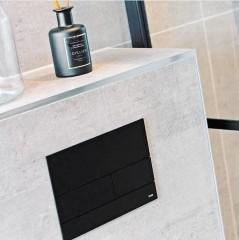 TECE Square bedieningsplaat voor duospoeling metaal diverse kleuren