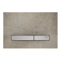 Sigma 50 bedieningspaneel duospoeling Beton Look met diverse kleuren toetsen
