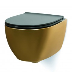 Luca Sanitair Globo Specials zwevend wandtoilet rimless 54x36cm incl. softclose toiletzitting